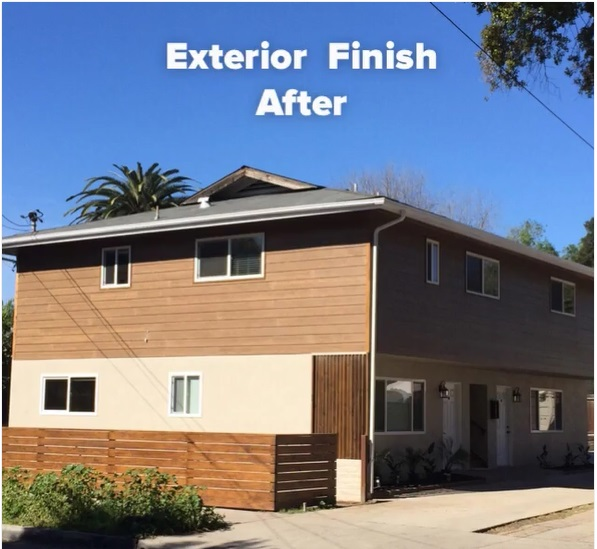 Exterior Finish After